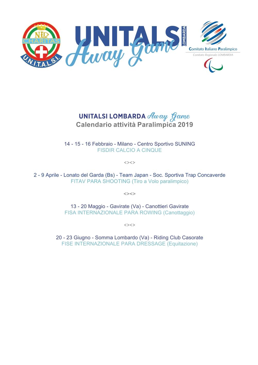 calendario paralimpico 2019