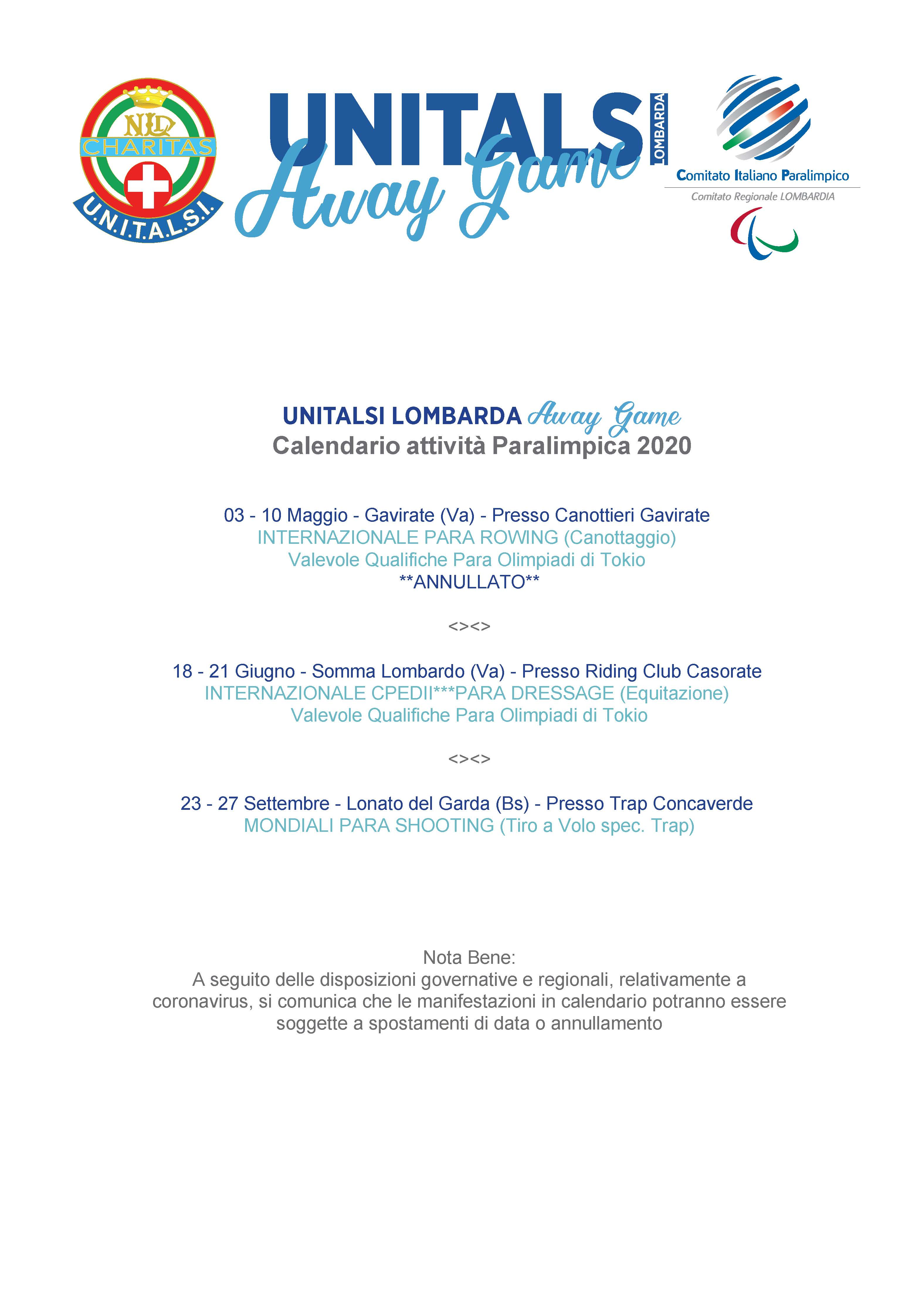 calendario paralimpico 2020